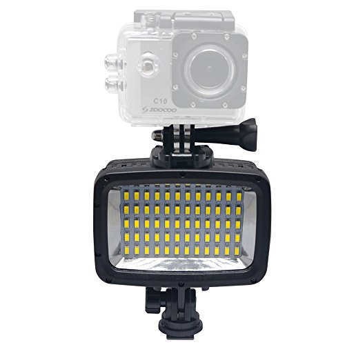 Mcoplus LED-60Y 60pcs Underwater 40m 1800LM Diving Lamp Waterproof Video LED Light for DV DSLR Camera Gopro HTC XIAOYI Sjcam SJ5000 SJ6000 Action Cameras by Mcoplus