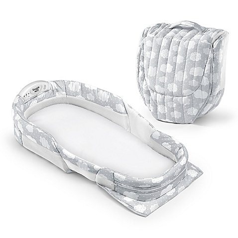 Baby Delight Snuggle Nest Surround Portable Infant Sleeper in Silver Clouds by Baby Delight® Snuggle Nest®