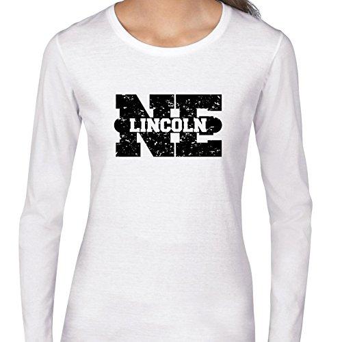 Lincoln, Nebraska NE Classic City State Sign Women's Long Sleeve T-Shirt -