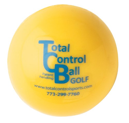 Pelota de golf Total Control Sports con punto rojo (paquete de 6), amarillo