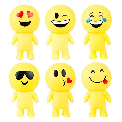 Emoji Party Favors - Fun Toys - Emoji Smile Action Figure Guys 6