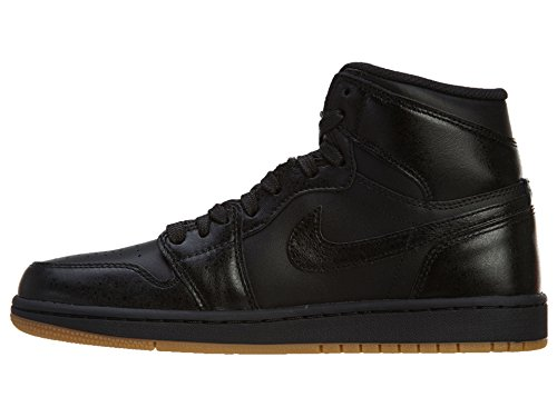 Nike Air Jordan 1 Retro High OG, Scarpe da Ginnastica Uomo Black, Black-gum Light Brown