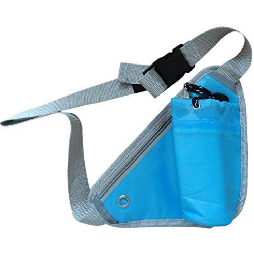 Orangesky Sports Triangular Waist Bag Water Bottle Pocket (Blue) For Sale