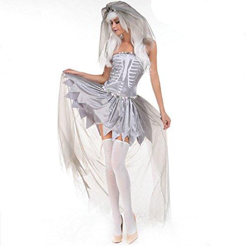 LLY fête d'halloween Jeu de rôle en Europe et en Amérique Uniformes de vêtements de mariée
