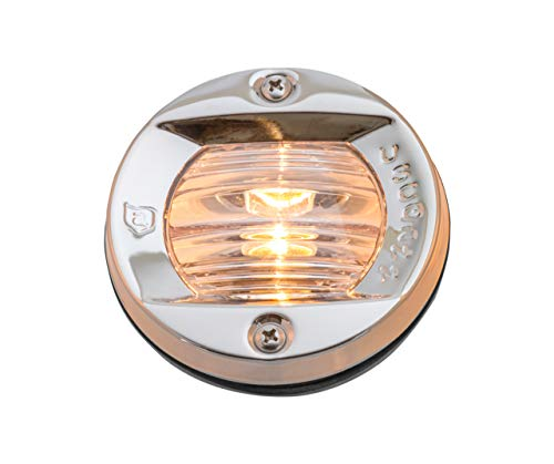 attwood 6356D7 Round Incandescent Marine Boat 3-Inch Flush Transom Light with 7.5-Watt Lamp