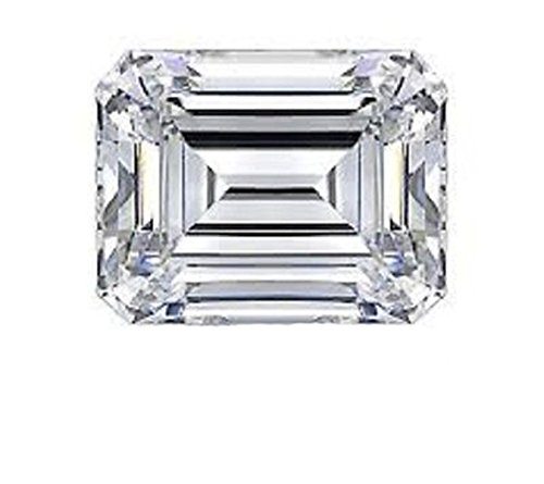 RINGJEWEL 2.11 ct VS1 Emerald Cut Loose Moissanite Use 4 Pendant/Ring Genuine White J-K Color