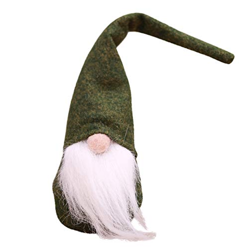 ROMANTIC BEAR Mini Swedish Christmas Tomte Long Hat Gnome Handmade Plush Doll Home Decor Table Ornament