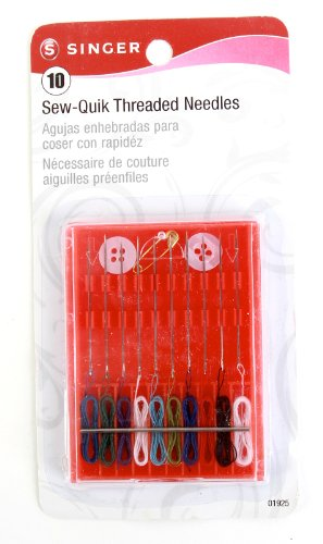Singer Sew-Quik Pre Threaded Needle Kit, 10-Pack