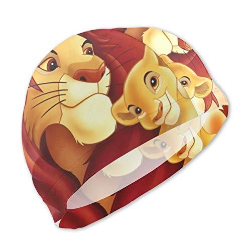 MaryTiTi Lion King Kids Swim Caps Cute Swimming Pool Hat No-Slip Swim Goggles for Children Boys Girls ()