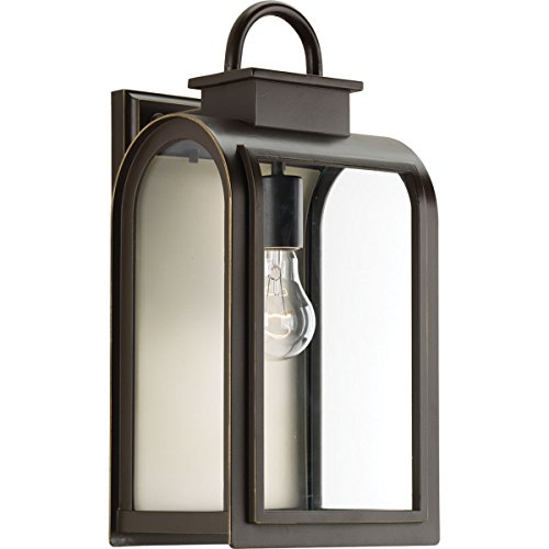 Progress Lighting P6031-108 Traditional/Casual 1-100W Med Wall Lantern, Oil Rubbed Bronze