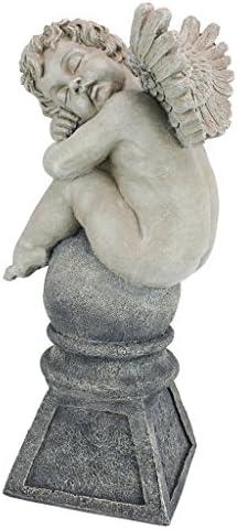 Design Toscano NG29240 Balancing a Dream Cherub Garden Statue,two tone stone