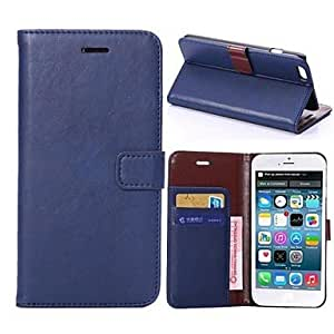 ZXC Solid Color/Special Design Full Body Cases/Wallet Case/PU Leather for iPhone 6 Puls (Assorted Colors) , Brown