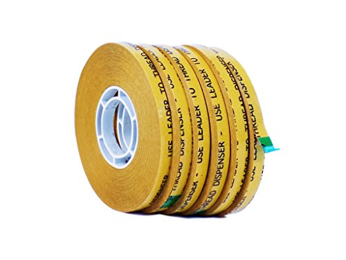 WOD ATG-7502 General Purpose ATG Tape, Adhesive Transfer Tape Glider Refill Rolls Clear Adhesive on Gold Liner (Acid Free and Available in Multiple Sizes): 1/4 in. wide x 36 yds. (Pack of 6) (Photo Tape Gun)