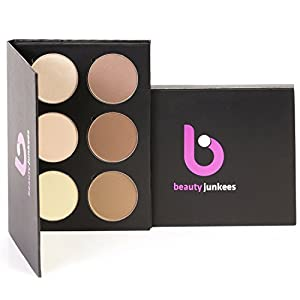 Powder Contour Highlight Makeup Palette – 6 Color Face Pallet Make Up Contouring Kit, Concealer, Bronzer, Highlighter Made in the USA, Paraben Free, Cruelty Free Paleta de Contorno