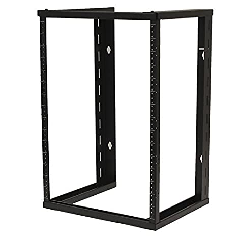 NavePoint 6U Wall Mount Open Frame 19 Server Equipment Rack Threaded 16 inch Depth Black 400427687