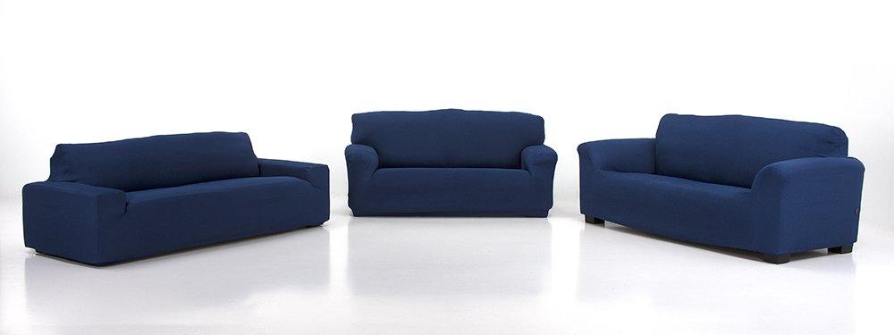 Belmarti Toronto - Funda sofa elástica Patternfit, 3 Plazas, color Azul