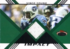 2008 Stadium Club Impact Relics #IRVY Vince Young Jersey - Stadium Club 2008