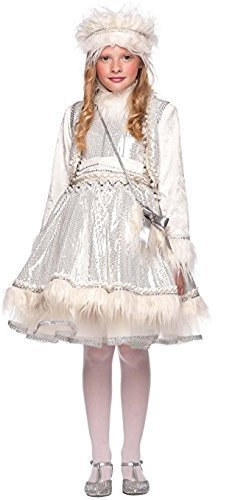 Italian Made Baby & Older Girls Prestige Deluxe Eskimo Around the World Carnival Halloween Fancy Dress Costume Outfit 0-12 years (9 years)