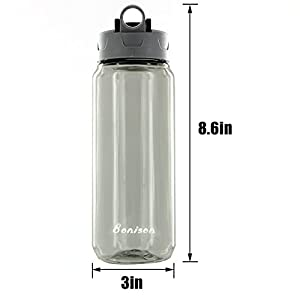 Clearance Sale-25 Oz Shake Bottle With Flip Top Spout Mixer Ball To Mix Protein Powder Easy Shaker Water Bottle (Black)