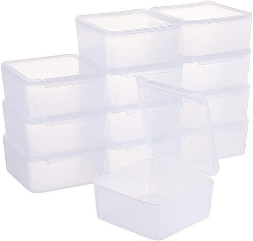 BENECREAT 12 Pack Caja Cuadradas Transparentes de Plastico para ...