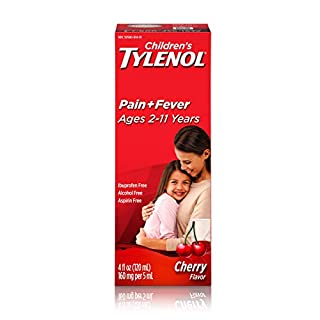 Children's Tylenol Oral Suspension Medicine with Acetaminophen, Cherry, 4 fl. oz