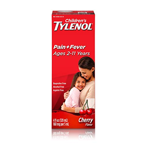Childrens Tylenol - Children's Tylenol Oral Suspension Medicine with Acetaminophen, Cherry, 4 fl. oz