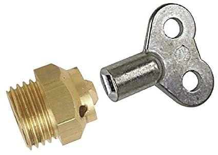 Boutt 1856236 C5+CLE4 - Purgador para radiador (05 x 10, llave de