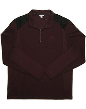 Calvin Klein Men's French-Rib Quarter-Zip Sweater