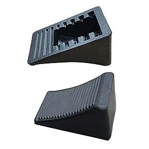 Chocks de goma para ruedas, paquete de 2, 4 unidades, bloqueador de tapacubos