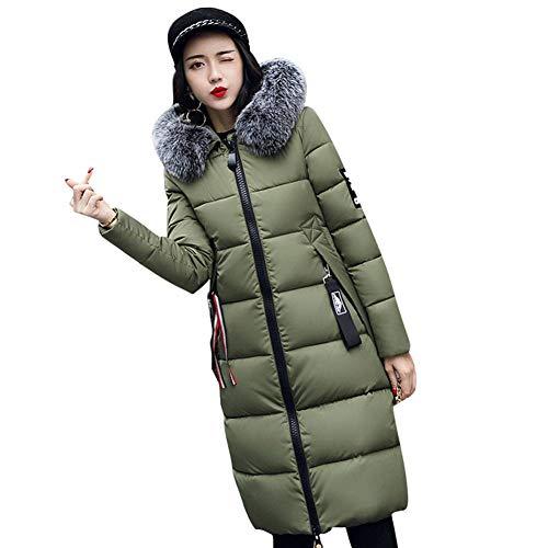 Hibote Winter Coat Down Jacket Women Hooded Winter Warm Down Jacket Long Parka M-XXXL Army Green