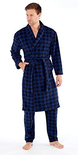 Pijama S Harvey Hombre Y Lana Check James Para De Set Navy Bata Pantalón 2xl vwrgx8qv
