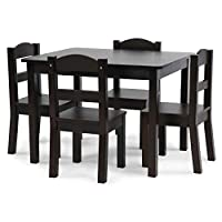 Tot Tutors Carter Collection Kids Wood Table & 4 Chair Set