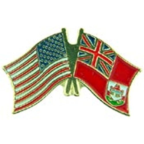 American & Bermuda Flags Pin 1