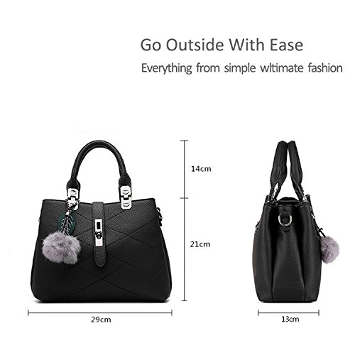 Vintage The Leather Handbags Ladies Women For Handbag body 1 Best Designer Cross with Grey Bag Handle Bow qptr6wqEx