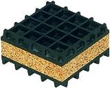 12''x12'' Base 1''Thk 50PSI Cap Neoprene & Cork Vibration Isolation Pad