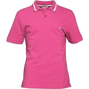 a56bf4673 Mens Haze Pink/White Original Penguin Mens Herringbone Stripe Collar Polo  Magenta Haze - S To Fit Chest 35-36 Euro Small: Amazon.co.uk: Clothing