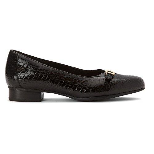 Clarks Vrouwen Keesha Raine Jurk Pomp Zwart Croc Patent