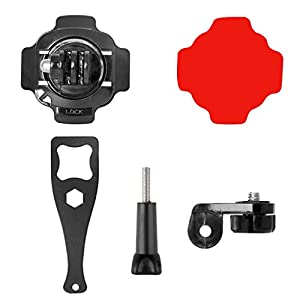Shoresu Sticker,1, 5 in 1 360 Degree Action Camera Helmet Rotary Mount Kit Adhesive Mount for GoPro