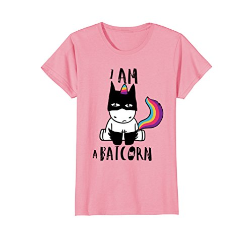 Womens i am a batcorn dark unicorn superhero t-shirt men women kids Large Pink
