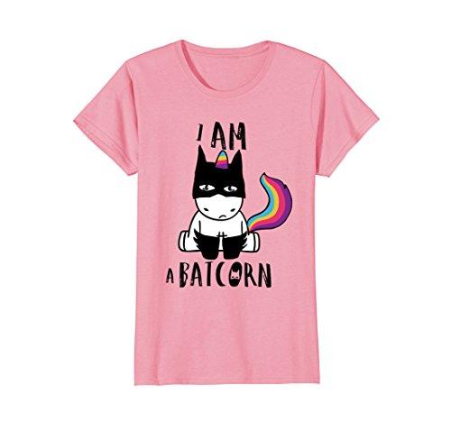 Womens i am a batcorn dark unicorn superhero t-shirt men women kids Large Pink