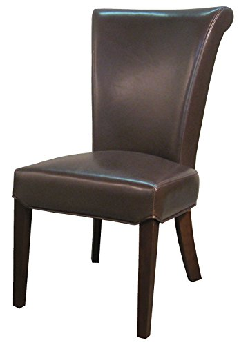 New Pacific Direct 148B-77 Bentley Bonded Leather, Set of 2 Dining Chairs, Mocha Brown ()