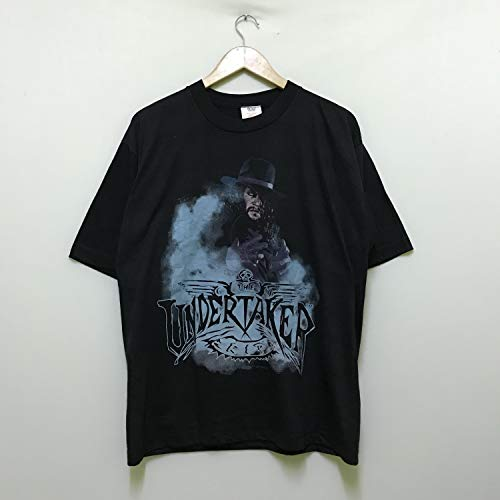 vintage 90s the undertaker rest in peace wwf American professional wrestler big image the rock stone cold kane promo t-shirts