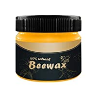Beeswax Wood Seasoning Wax Tin, Made from Plant Based Oils and Beeswax, Cleaner Takes Seasons Most Cutting Board, Bowl and Houseware, Complete Solution Furniture Polish Care Beeswax (1 Pack)