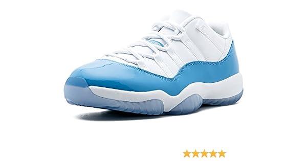 innovative design c0b79 8cc72 Amazon.com   Jordan Men Air Jordan 11 Retro Low (White University Blue)  Size 9.5 US   Basketball