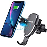 CHOETECH Fast Gravity Wireless Car Charger Air Vent Car Mount, 7.5W Compatible with iPhone 11/11 Pro/XS/XS Max/XR/X/8 Plus, 10W Fast Charge Samsung Note 10/10 Plus,S10/S 10 Plus,S9/S8,Note 9/8, etc