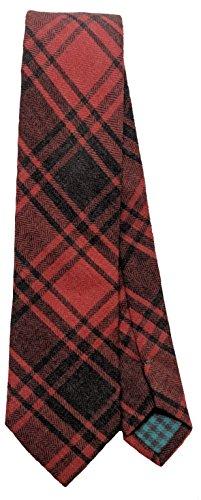 Cotton Flannel Plaid Tie Men's Neck Tie (Buffalo Plaid Tie)