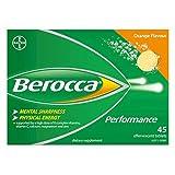 Berocca Orange Effervescent Tablets 15-Count (Pack of 3)