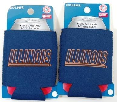 セットの2 Illinois Fighting Illini Can Kaddy Koozies B002ZKNXK2