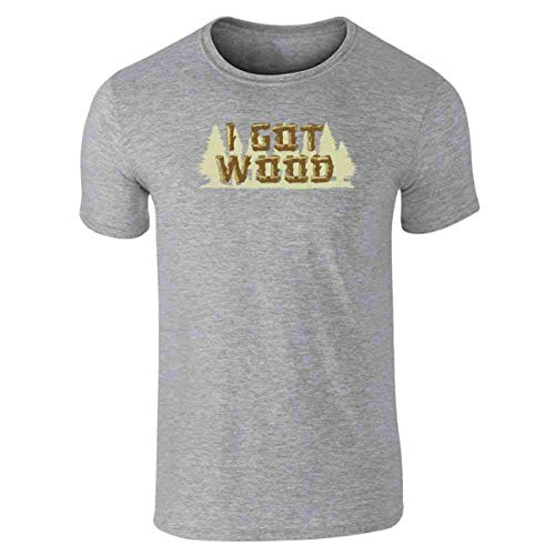 etst I Got Wood Halloween Costume Drinking Zombie Short Sleeve T-Shirt Size Medium Grey ()