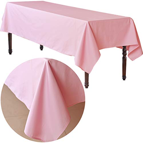 COLORED BIRD Table Runner Rectangle Tablecloth - 52 x 100 Inch - Light Pink Rectangular Table Cloth for 6 Foot Table in Washable Cotton (Table 100 Runner Inch)